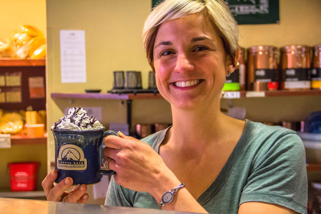 Copper Rock Coffee Company owner Emily Heiges
