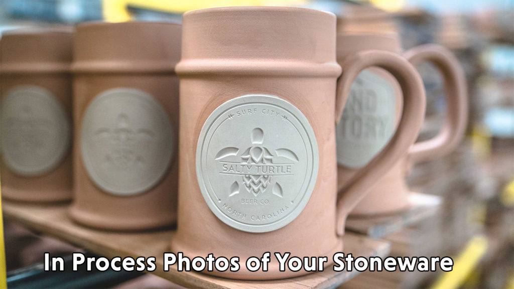 In Process Photo of Stoneware