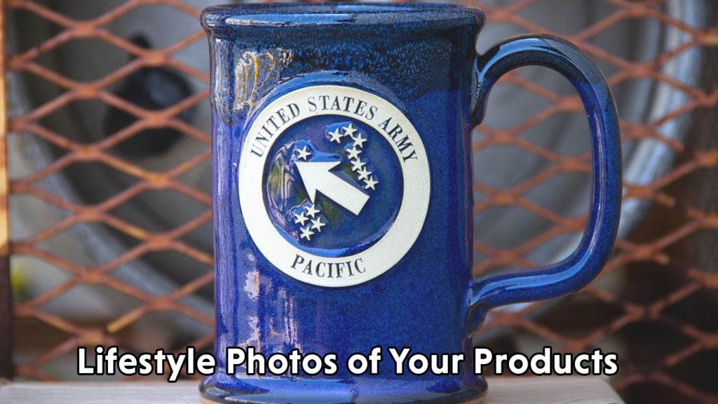 Lifestyle Photo of Stoneware Mugs