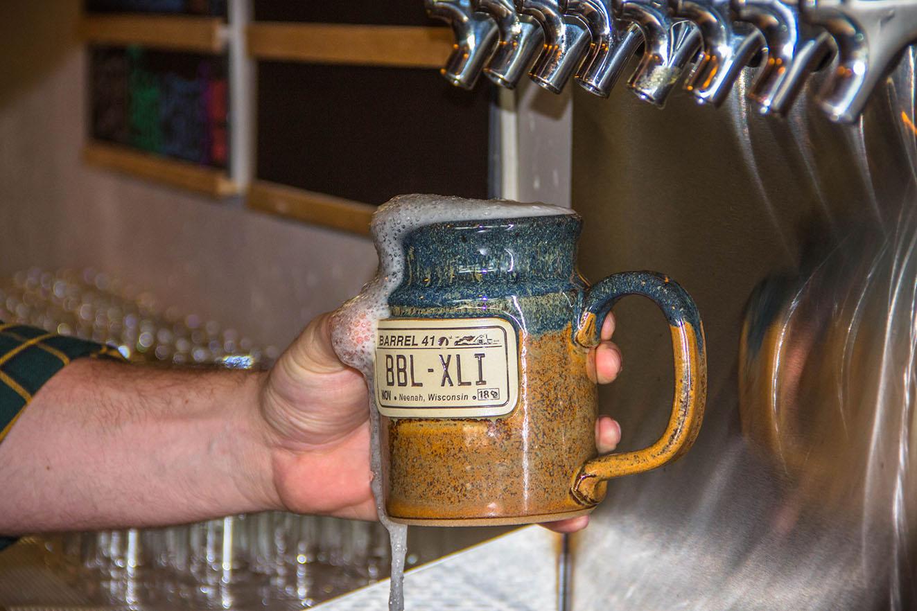 Beer in a Stoneware Beer Mug