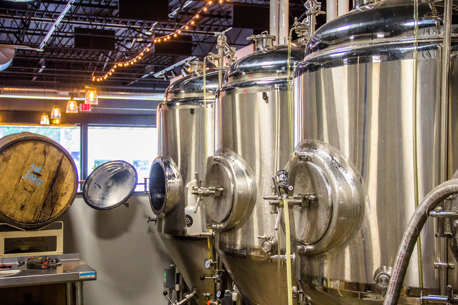 Fermenting Tanks at Barrel 41 Brewing Company