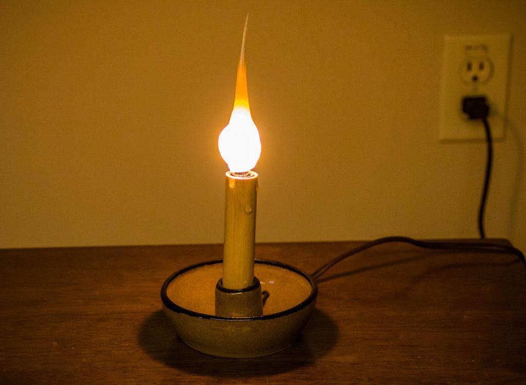 Stoneware light holder