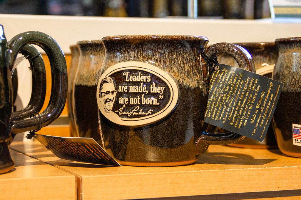 Java Taster stoneware mug with Vince Lombardi quote