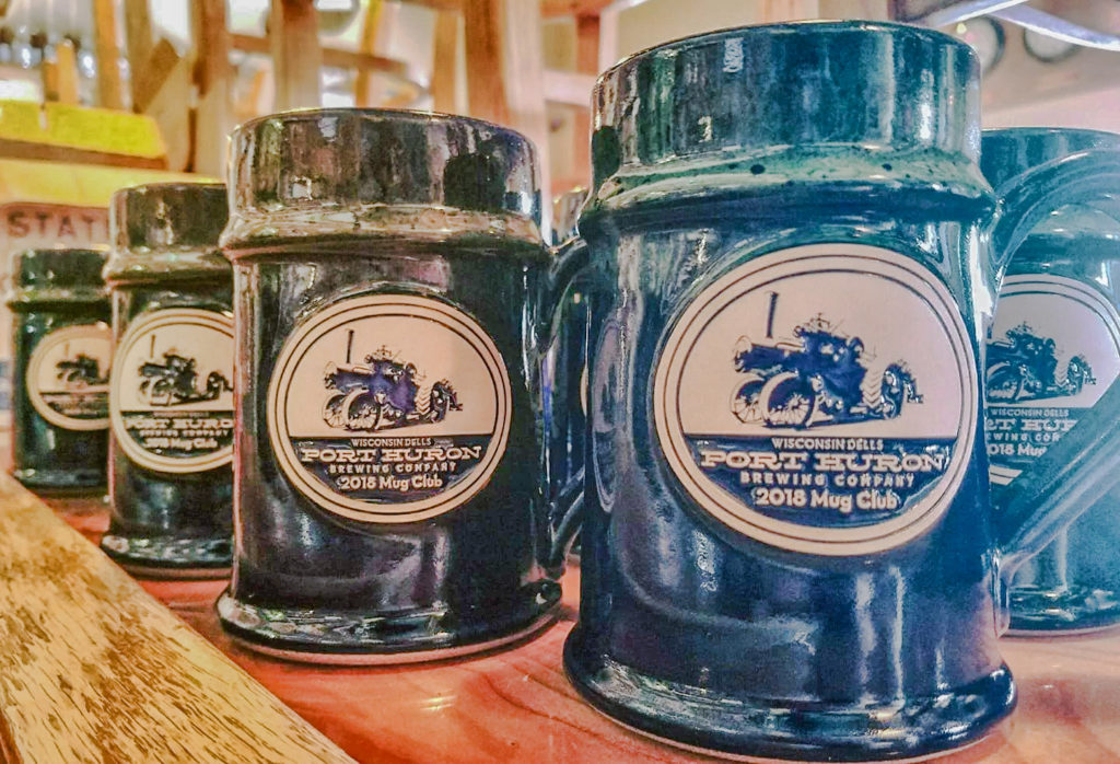 Port Huron Brewing Company mug club mugs