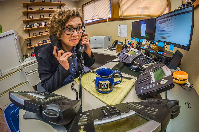 Receptionist on Phones