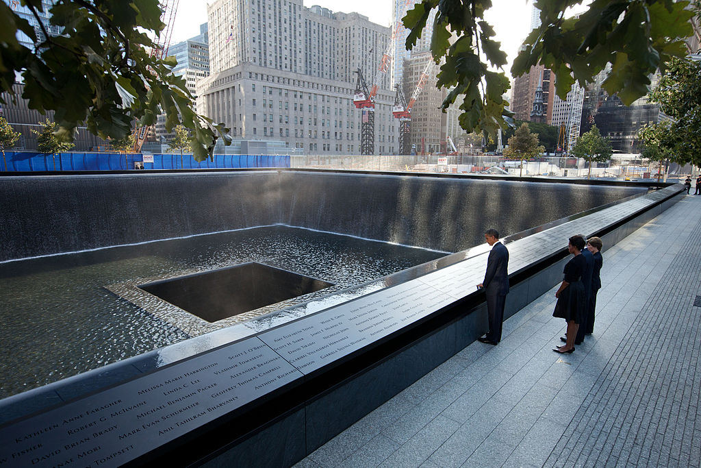 Presidents at the 9.11 Memorial
