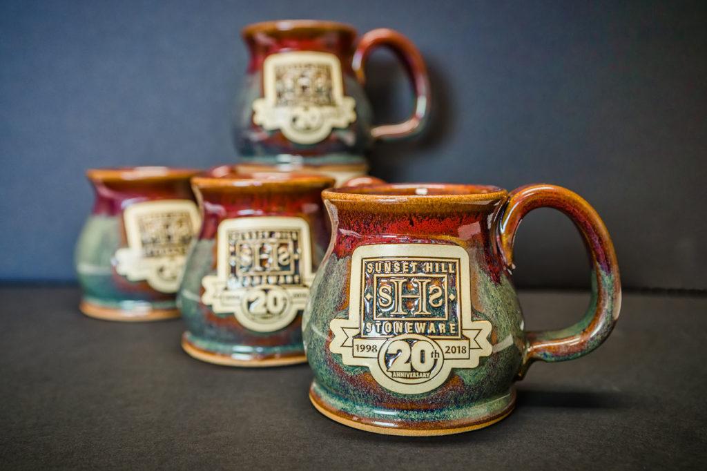 Sunset Hill Stoneware 20 Year Anniversary mugs