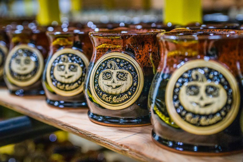 Cat Coven Halloween coffee mugs