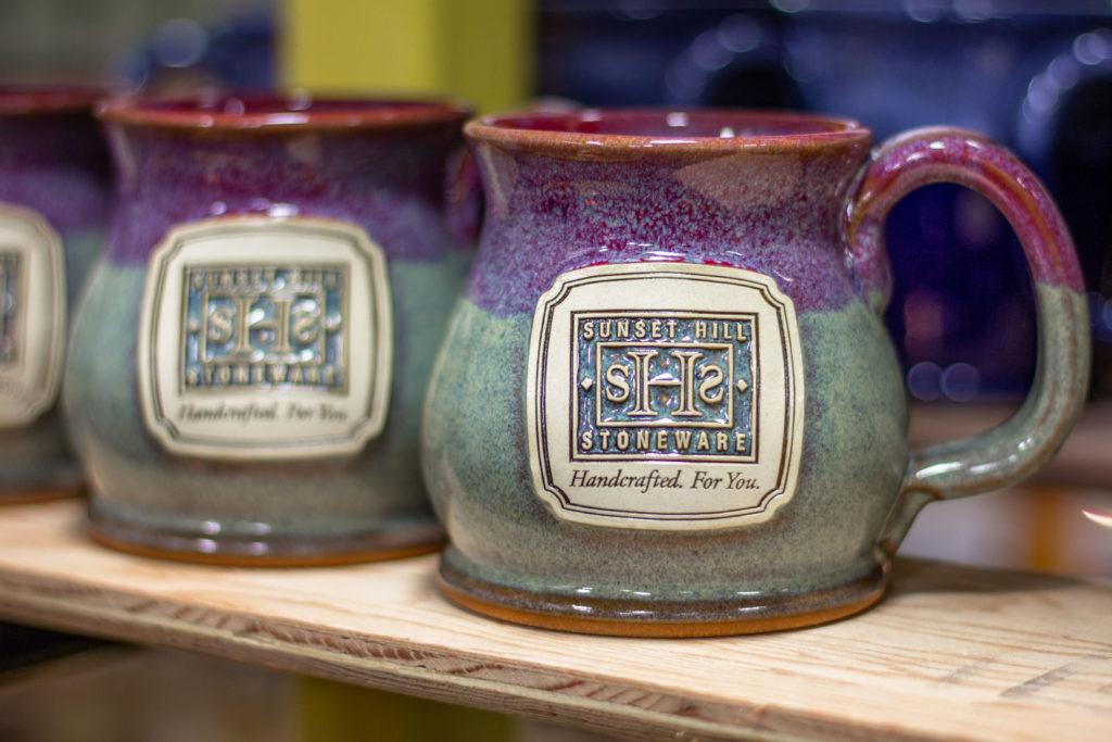 History of Sunset Hill Stoneware mugs