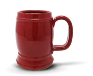 Double Barrel Stein in Red Glaze