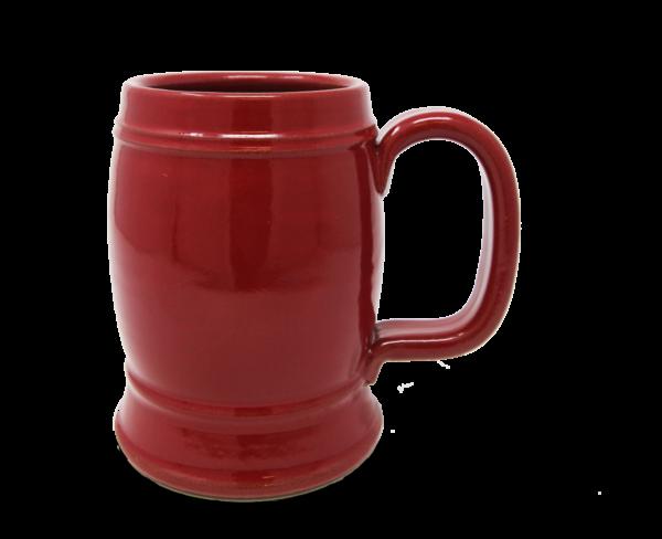 Double Barrel Stein in Red Glaze