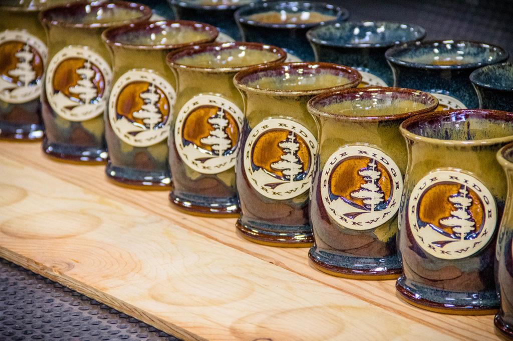Wide Mouth Blue Ridge Parkway Coffee Mug in Root Beer Float