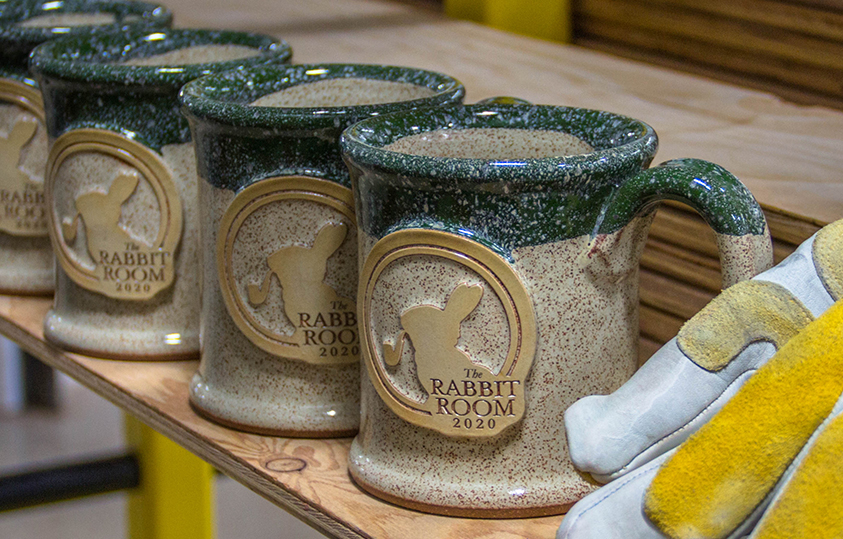 Desert Cactus green stoneware coffee mugs